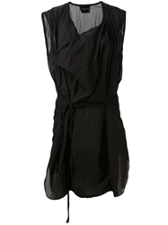Nicolas Andreas Taralis Sleeveless Long Shirt Black