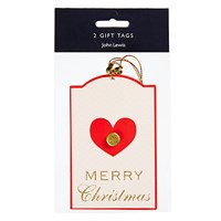 John Lewis Ostravia Heart Jewel Gift Tags Pack Of 2
