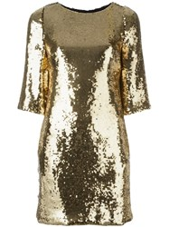 Marco Bologna Sequin Embellished Dress Metallic