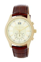 Michael Michael Kors Men's Aiden Leather Strap Watch Brown