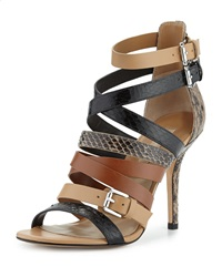 Cecilia Mixed Media Strappy Sandal Michael Kors