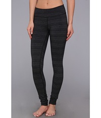 Beyond Yoga Stripe Essential Long Legging Black Heather Grey Stripe Women's Workout Gray
