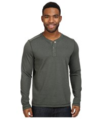 The North Face Long Sleeve Copperwood Henley Rosin Green Heather Men's Clothing