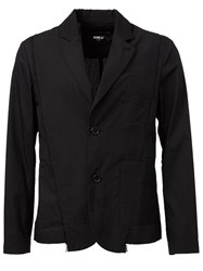 Yang Li Patch Pocket Blazer Black