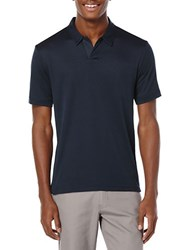 Perry Ellis Big And Tall Open Placket Polo Eclipse