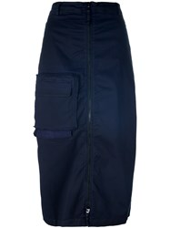 Rundholz Zipped High Waisted Skirt Blue