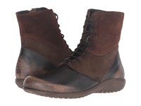 Naot Footwear Atopa Volcanic Brown Leather Hash Suede Seal Brown Suede Women's Boots