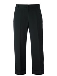 Aspesi Cropped Tailored Trousers Blue