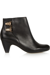 Sam Edelman Marmont Leather Ankle Boots Black