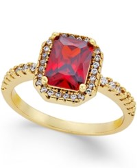 Charter Club Gold Tone Red Crystal And Pave Ring Only At Macy's