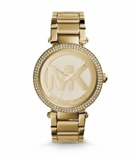Michael Kors Parker Pave Gold Tone Watch