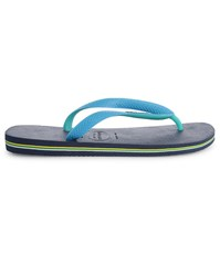 Havaianas Navy And Turquoise Mix Brazil Flip Flops Blue