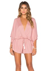 Young Fabulous And Broke Ashley Romper Mauve
