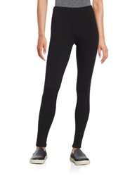 Lord And Taylor Stretch Cotton Leggings Black