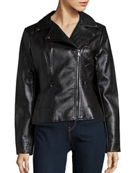 Guess Faux Leather Moto Jacket Black