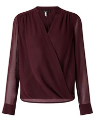 Bruce By Bruce Oldfield 73 Nyc Wrap Blouse Dark Red