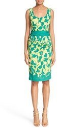 Women's Tracy Reese Print Stretch Silk Sheath Dress