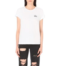 Stussy Global Designs Cotton Jersey T Shirt White
