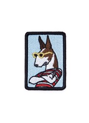 Marc Jacobs 'The Neville' Dog Embroidered Patch Multi Colour