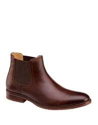 Johnston And Murphy Garner Gore Calfskin Boots Mahogany