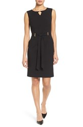 Ellen Tracy Women's Belted Sheath Dress