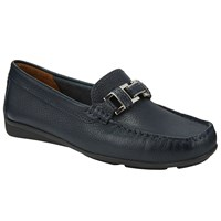 John Lewis Luxembourg Leather Moccasins Navy