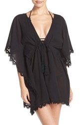 Seafolly Women's Crochet Trim Cover Up Caftan