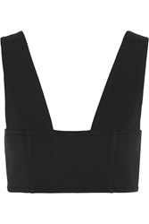 Alexander Wang Stretch Ponte Bra Top Black