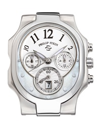 Philip Stein Teslar Philip Stein Large Mother Of Pearl Chronograph Watch Head