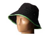 Lauren Ralph Lauren Cotton Polka Dot Canvas Bucket Hat Black White Bucket Caps