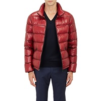Quilted Puffer Jacket Red
