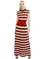 Sonia Rykiel Sequin And Lurex Striped Knit Dress