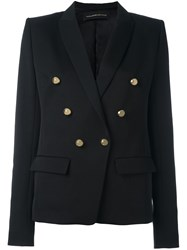 Alexandre Vauthier Double Breasted Blazer Black
