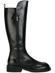 Ann Demeulemeester Knee High Boots Black