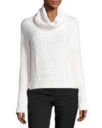 Vince Camuto Turtleneck Cable Knit Sweater Cream