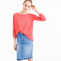 J.Crew Garment Dyed Linen Cable Crewneck Sweater