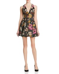 Alice Olivia Alice And Olivia Mollie Box Pleat Floral Brocade Dress Multi