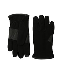 Ugg Suede Smart Gloves Debossed Logo Patch Black Extreme Cold Weather Gloves