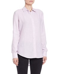 Lord And Taylor Linen Hi Low Casual Shirt Orchid Hush