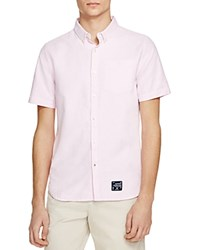 Superdry Ultimate Short Sleeve Oxford Regular Fit Button Down Shirt Coast Pink