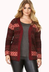 Forever 21 Plus Size Worldly Tribal Pattern Cardigan