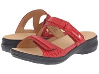 Revere Rio Red Snake Women's Flat Shoes