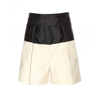 Balenciaga Silk Blend Shorts Noir Naturel