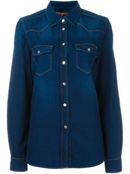 7 For All Mankind Western Style Denim Shirt Blue