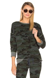Sundry Brushed Terry Pullover Gray