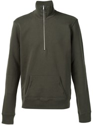 Maison Martin Margiela Maison Margiela Zip Placket Sweater Green