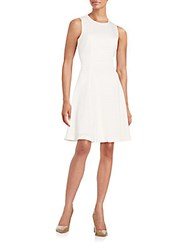 Karl Lagerfeld Eyelet Fit And Flare Dress Blanc
