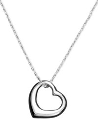 Unwritten Heart Necklace Sterling Silver Open Heart