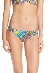 Trina Turk Women's 'Madagascar' Hipster Bikini Bottoms Blue Green Multi