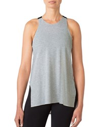Mpg Elastic Strap Relaxed Fit Tank Top Heather Concrete